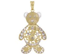 Anhänger Teddy Gelbgold 375, zus. 0.005 Ct.