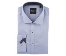 Businesshemd, Body Fit, Kent-Kragen, Blau