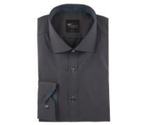 Businesshemd, Body Fit, Kent-Kragen, zweifarbige Knöpfe