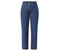 """Jeans """"Bina"""", weiter Schnitt, zwei Fronttaschen, Blau"""