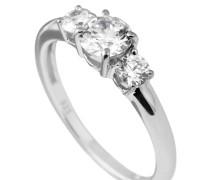 Ring, Sterling Silber 925, -Zirkonia, zus. 1,0 ct