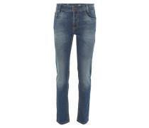 "Jeans ""Bill"", Regular Fit, Ziernähte, Blau"