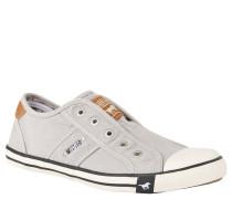 Sneaker, Gummi-Kappe, farblich abgesetzte Sohle, Twill, Slip-In