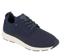 Sneaker, Wechselfußbett, Textil-Besatz, Blau