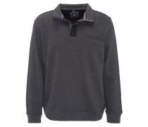 Sweatshirt, Fischgrät-Muster, Stehkragen, Grau