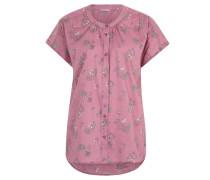 Bluse, kurze Ärmel, Blumen-Design, Lila