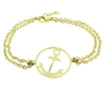 Anker Armband 108032 Edelstahl rund gold