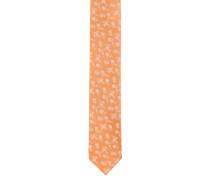 Krawatte, schmal, reine Seide, Blumen