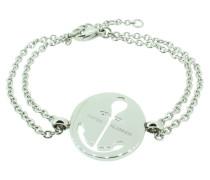 Anker Armband 108034 EdelstahlAnker ausgestanzt rund silber