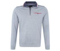 Sweatshirt, Stehkragen, Ripp-Optik, Blau