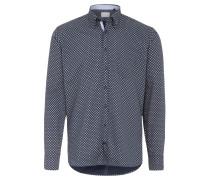 Freizeithemd, Regular Fit, Button-Down-Kragen, Blau