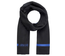 Schal, Wolle, zweifarbig, Logo