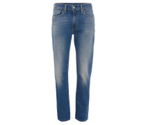 Jeans 514, STRAIGHT FIT, Used-Waschung, Blau