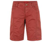 Shorts, elastisch, Ziernähte, umgeschlagene Beinenden, Rot