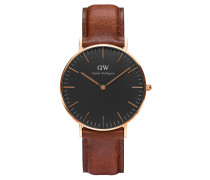 Classic Black Armbanduhr St Mawes, Rose Gold 36 mm DW00100136
