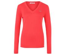 Pullover, Baumwolle, Emblem, für Damen, Pink