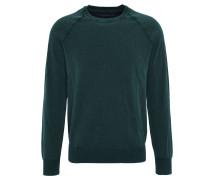 Pullover, meliert, used-Optik, Grün