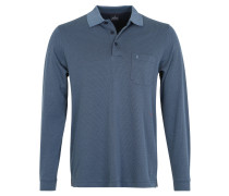 Polo-Shirt, Pima-Baumwolle, geometrisches Muster