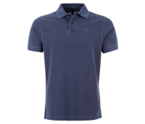 Poloshirt, Piqué, reine Baumwolle, Blau