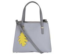 """Handtasche """"Modern"""", Saffiano-Optik, Anhänger, Grau"""