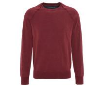 Pullover, meliert, used-Optik, Rot