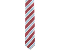 Krawatte, schmal, reine Seide, Streifen