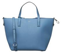 Shopper, Saffiano-Optik, extra Brieftasche, Blau