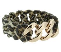 """Armband """"Original"""" 107037 Edelstahl, Leoparden-Muster, rosegold"""