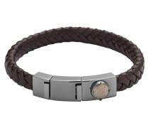 Armband Leder Braun mit Edelstahl DX0856060