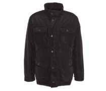 Jacke, große Taschen, Reißverschluss, Knopfleiste,Stehkragen