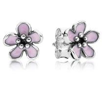 Ohrstecker Blüte mit rosa Emaille 290537EN40