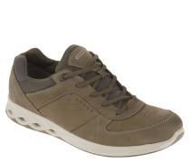Sneaker, Veloursleder, Materialmix, stabile Sohle, Grün
