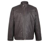 Jacke, Biker-Optik, Stepp-Details, Futter, Grau