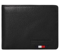 Brieftasche, genarbtes Rindsleder, Logoprägung