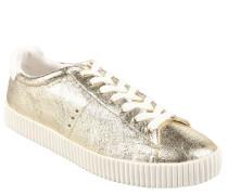 """Sneaker """"Deandrea"""", dicke Riffel-Sohle, Gold"""