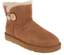 "Boots ""Mini Bailey Button"", Veloursleder, Lammfellfutter, Beige"