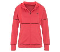 Sweatjacke, atmungsaktiv, schnell trocknend, elastisch, für Damen, Rot