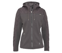 Sweatjacke, Strick-Optik, wattierte Ärmel, für Damen