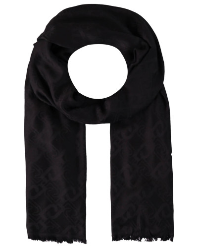 Schal, Logo-Muster, feine Fransen