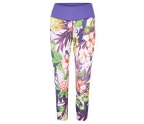 Leggings, Blumen-Allover, breiter Bund, für Damen, Blau