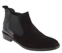 Chelsea Boots, Material-Mix, elastische Einsätze