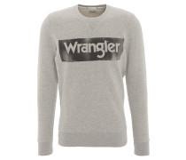 Pullover, Rundhalsausschnitt, Logo-Print, Baumwolle, Grau
