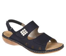 Sandalen, Leder, gesenktes Fußbett, metallener Besatz