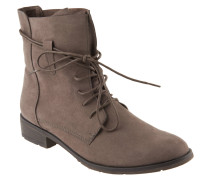 Boots, Leder-Optik, Schnürung, Taupe