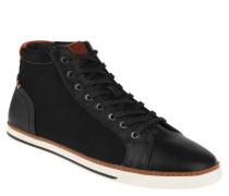 "Sneaker ""Hasher"", hoher Schaft, Textil, Leder-Optik, Schwarz"