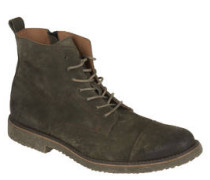 Boots, Leder, Reißverschluss, 7-Loch-Schnürung