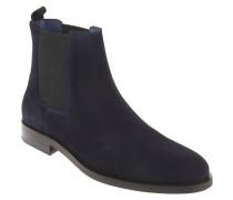 Chelsea Boots, Veloursleder, einfarbig, Blau
