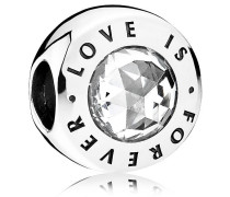 "Charm ""LOVE IS FOREVER"" Silber mit Zirkonia 791813CZ"