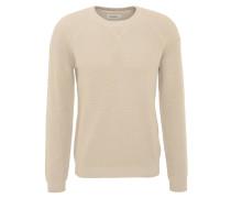 Pullover, Baumwolle, Rippbündchen, strukturiert