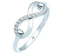 Ring Infinity Symbol Diamant 0.13 Ct. 585 Gold